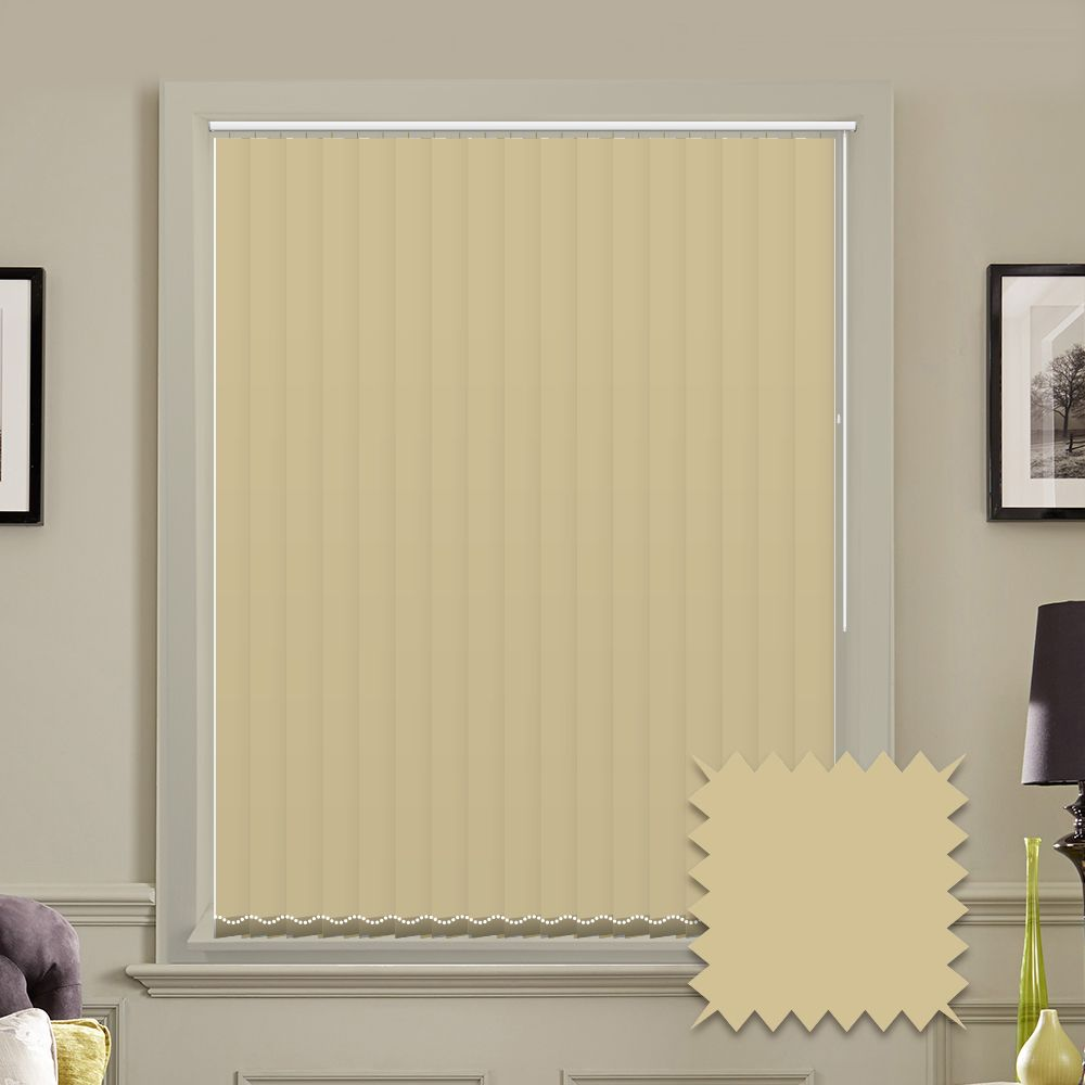 Beige vertical blinds - Made to Measure vertical blind in Bermuda Sand