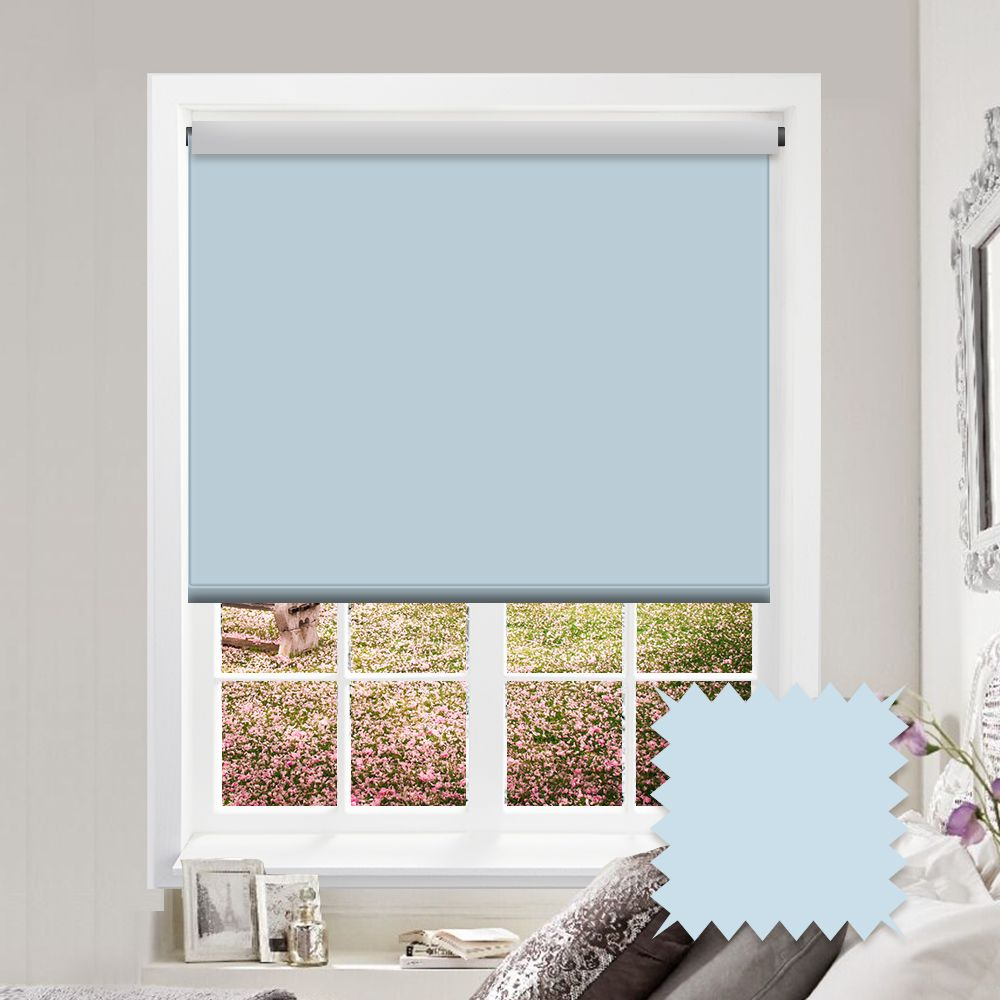 Blackout Baby Blue Roller Blind Bermuda Spa Pale Blue