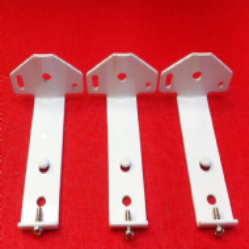Pack of 3 face fix brackets for vertical blinds