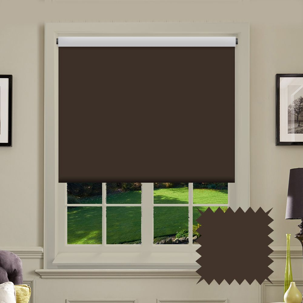 Blackout Roller Blind Bermuda Chocolate Brown Deep Brown