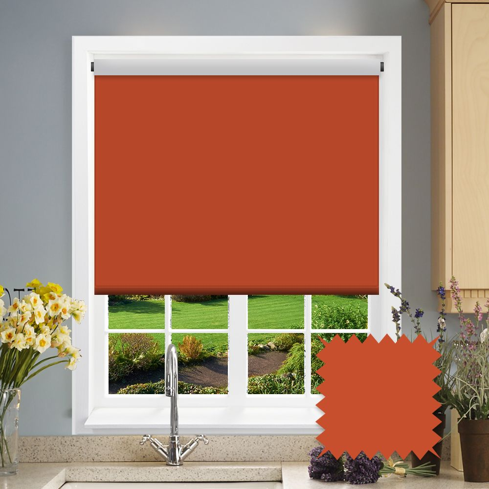 Blackout Roller Blind Bermuda Rust Red Just Blinds