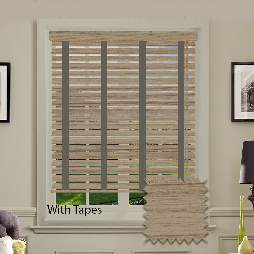 Expressions Faux Wood Venetian Blinds With Tapes In Haze