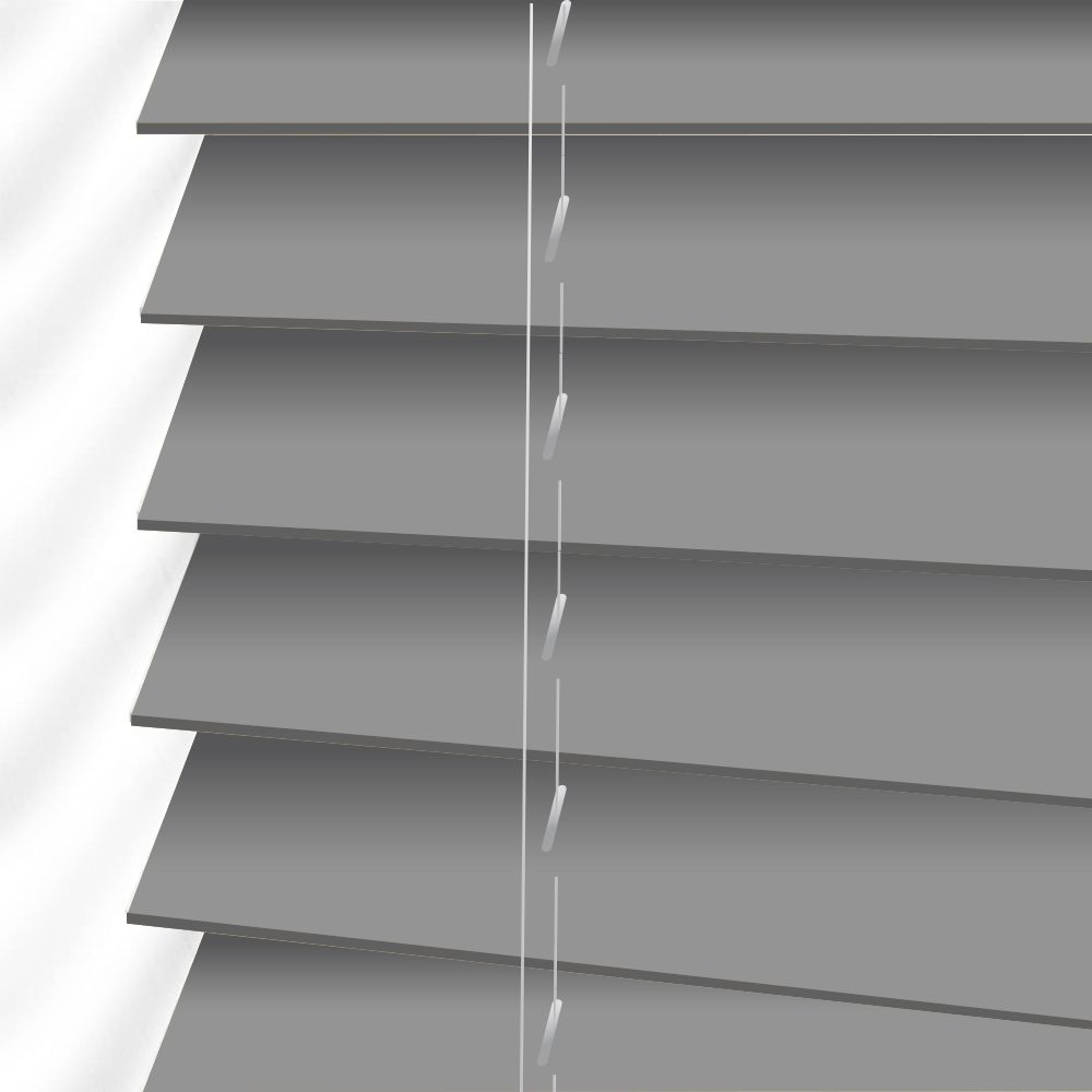 Forestwood 50mm Real Wood Venetian Blinds Made To Measure In Haze Grey