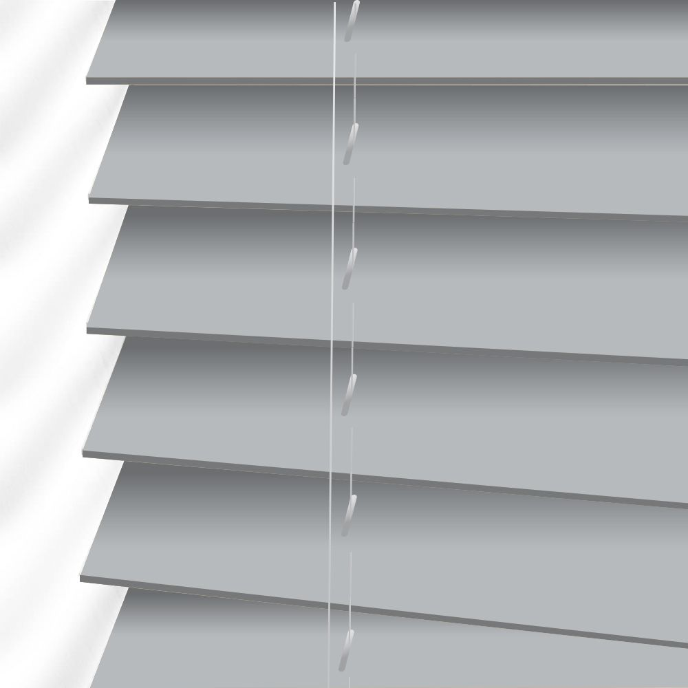 Forestwood 50mm Real Wood Venetian Blinds Made To Measure In Mist