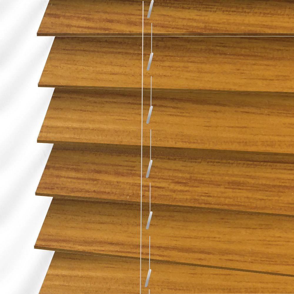 Faux Wood Venetian Blinds In Autumn Gold Brown Just Blinds
