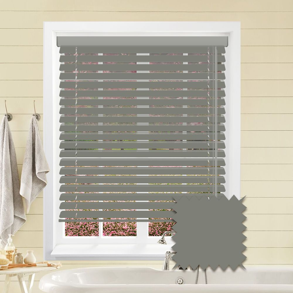 Hollywood Faux Wood Venetian Blinds In Pewter Just Blinds