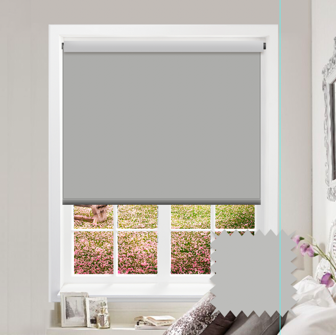 Grey Roller Blind - Bahamas Pale Stone Plain - Just Blinds
