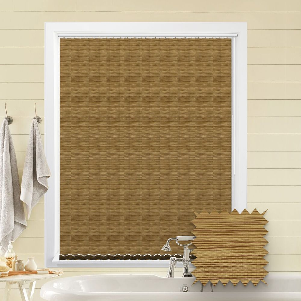 Made To Measure Morocco Harvest Brown Vertical Blind