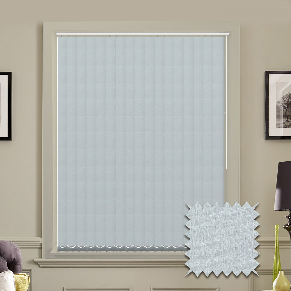 Made To Measure Albery Silver Grey Vertical Blind Just