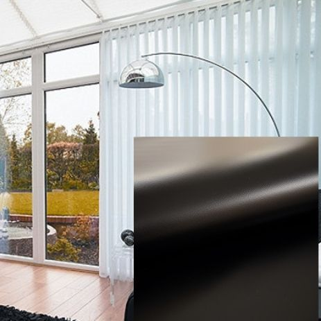 Made to Measure PVC Blackout Vertical Blinds in Black With Heat Reflective Coating - Just Blinds