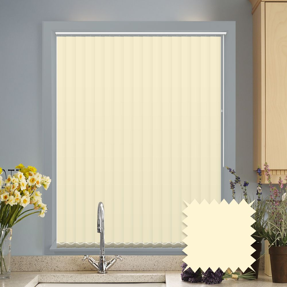 Made To Measure Vertical Blinds In Pvc Blackout Fabric Black Out