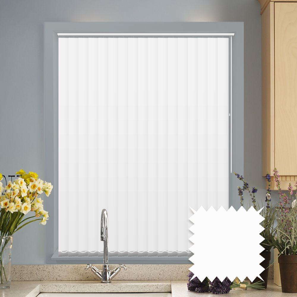 Made To Measure Vertical Blinds In Pvc Blackout Fabric In