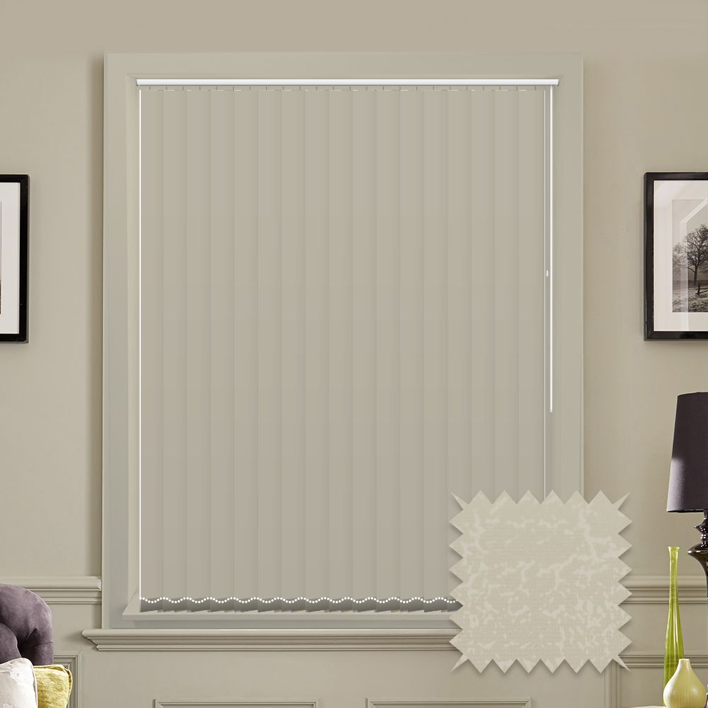 Made To Measure Vertical Blinds In Pvc Blackout Fabric