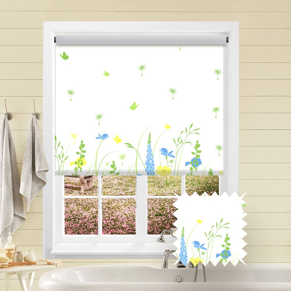 Premium Roller In Country Gardens Spring Glade Fabric