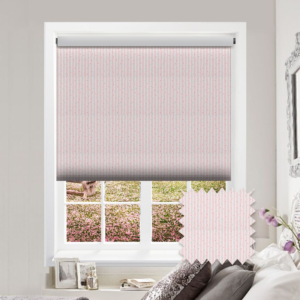 Premium Roller In Quinn Patterned Fabric Just Blinds