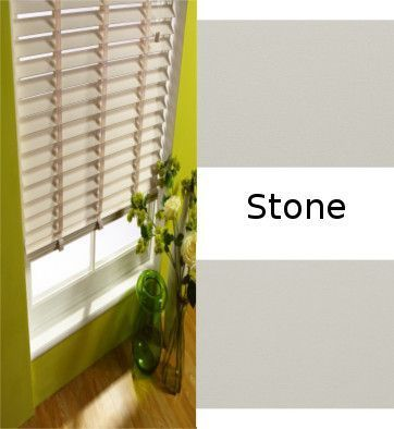 Stone Grey Real Wood Venetian blinds Made to Measure - Just Blinds
