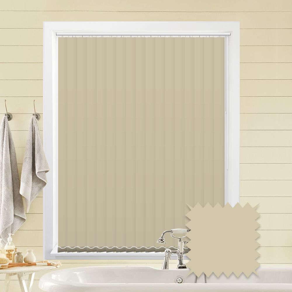 Vitra Cream Vertical Blinds Plain Cream Blackout Vertical