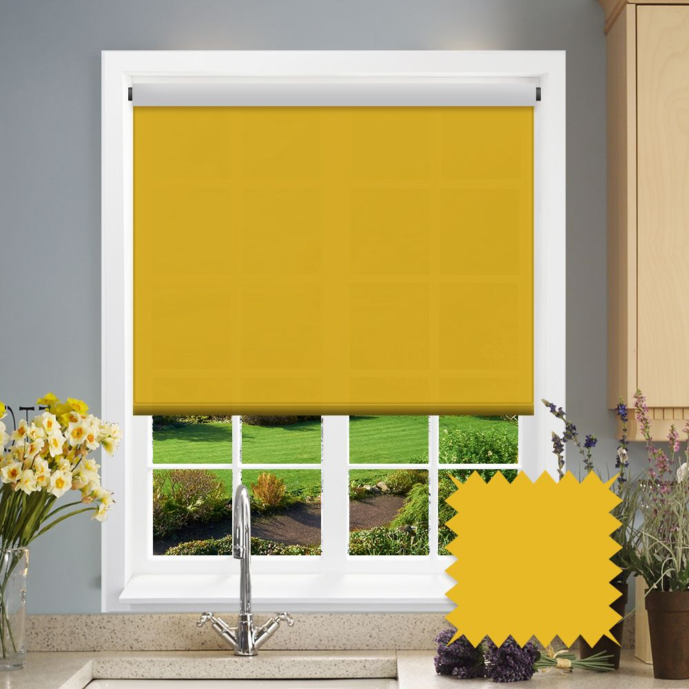 Yellow Roller Blind Bermuda Yellow Plain Just Blinds