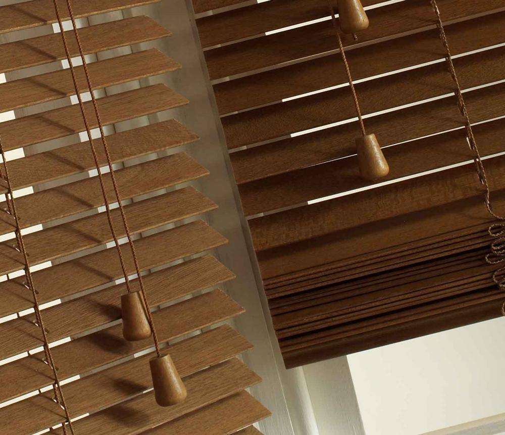real wood venetian blinds