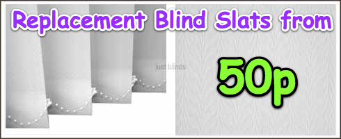 vertical blind slats from 50p | Replacement vertical blind slats