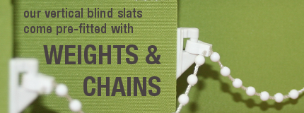 free weights and chains with replacement vertical blind slats